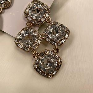 Kate Spade Faceted Crystal Statement Earrings